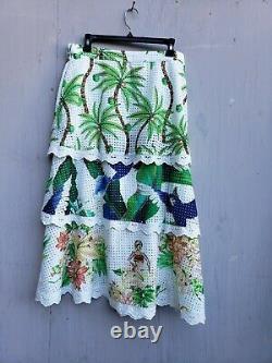 T.n.-o.! Farm Rio Pour Anthropologie Skirt Tropique Sz. L