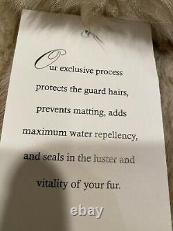 Taille 12 Grand Fard À Joues Coyote Et Blanc Renard Arctique Réel Manteau De Fourrure 49 Long Cadrage