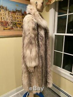 Taille 14 XL 45 Grand Long Russe Vraie Véritable Lynx Cadrage En Pied Fur Coat Balançoire