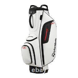 Taylormade Cart Lite Golf Bag Blanc 14 Way Top 10 Poches Diviseurs Pleine Longueur
