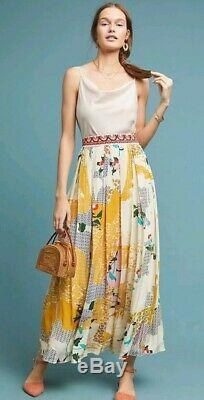 Tn-o Bhanuni Mischa Maxi Anthropologie Jupe Florale Magnifique Grande