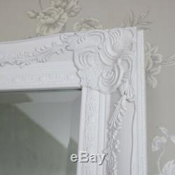 Très Grand Miroir Blanc Rez-de-mur Pleine Longueur Minable Maison De Chambre Vintage Chic