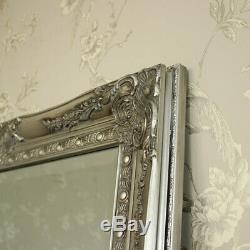 Très Grand Miroir De Plancher De Mur Longueur Silve Pleine Shabby Chic, Cru Chambre Maison