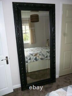Très Grand Style Ancien Longueur La Pleine 2mtrs Miroir (6'6)