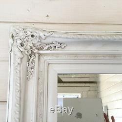 Très Grand Vintage Style Cadrage En Pied Mur Ornement Leaner Collection Miroir