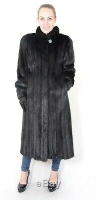 Us2012 Beau Manteau Femme Veste En Fourrure De Vison Pleine Longueur Taille L Nerzmantel