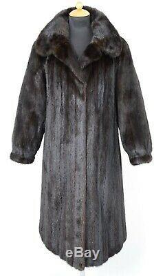 Us2408 Blackglama Mink Coat Fur Longueur Pleine Lightweight Taille L Nerzmantel