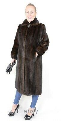 Us2419 Beautiful Farmer Mink Fur Coat Full Lentgh Jacket Taille L Nerzmantel