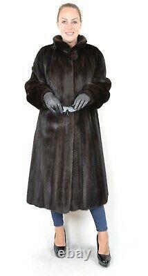 Us2722 Belle Saga Mink Coat Fur Longueur Pleine Lightweight Taille L Nerzmantel