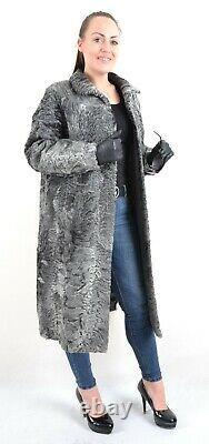 Us3123 Gris Swakara Persan Lamb Fur Coat Full Length Size L Persianer Mantel