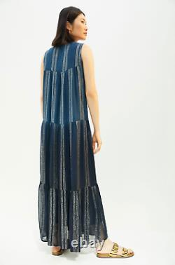 Verbe De Pallavi Singhee @ Anthropologie Brodé Shimmer Maxi Robe Taille L