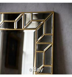 Verbier Grand Or Rectangle Longueur Moderne Leaner Étage Mur Mirror157x80cm