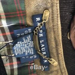 Veste Manteau Ralph Lauren Fourrure D'agneau Italie Nwt Grand Femmes En Peau De Mouton Bouton Brown