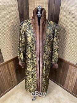 Vintage Alaska Fur Galley Cadrage En Pied Brown Ranch Mink Coat Fur Grand 8 10