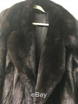 Vintage Longueur Pleine Acajou Mink Coat Taille Grand Excellent État! Doit Vendre