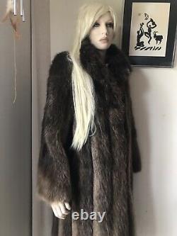 Vintage Longueur Pleine Manteau De Fourrure Par Black Diamond Fur Co