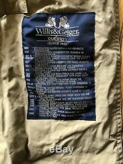 Willis & Geiger 100% Ventile Trench Longueur Pleine Pardessus Laine Liner Mens L