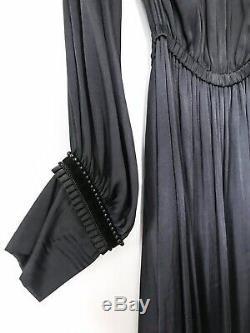 Zara Backless Robe En Satin Taille L Uk 12