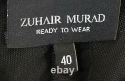 Zuhair Murad Drapé Robe En Mousseline De Soie Fr 40 Uk 12